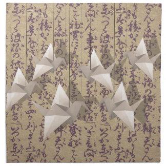 Paper cranes napkin