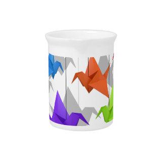 Paper cranes pitcher