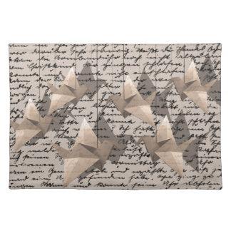 Paper cranes placemat