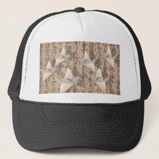 Paper cranes trucker hat