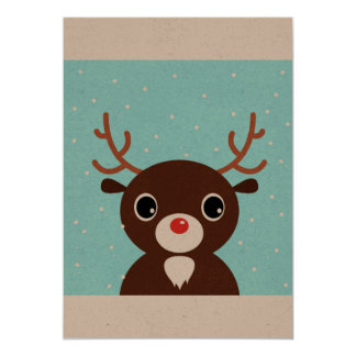 Paper creative greeting with Reindeer Card