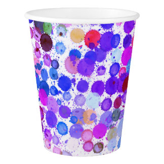 Paper cup Art paint rainbow