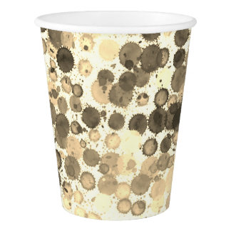 Paper cup Art paint rainbow  grey white