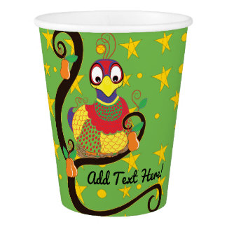"""Paper Cups """"Partridge in a Pear Tree""""  9 oz."""
