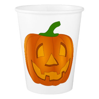 Paper Cups With Pumpkins