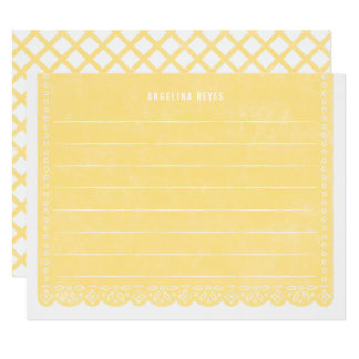Paper Cut Banner Stationery - Lemon Card