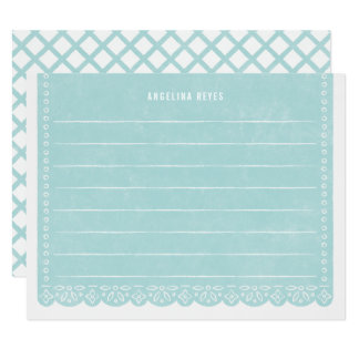 Paper Cut Banner Stationery - Pool Card
