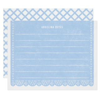 Paper Cut Banner Stationery - Sky Card