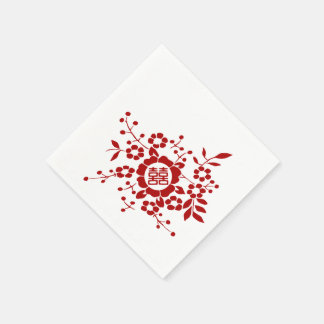Paper Cut Flowers • Double Happiness Disposable Napkin