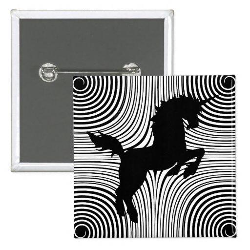 Paper Cut Unicorn Pin Button