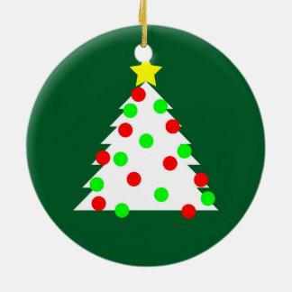Paper Cutout Christmas Tree Ceramic Ornament