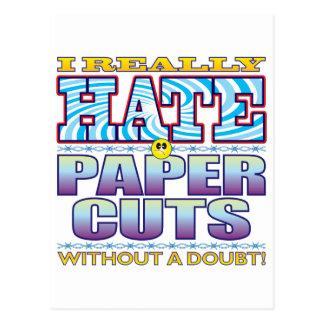 Paper Cuts Hate Face Postcard