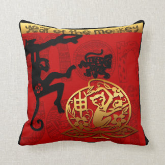 Paper Cutting  Chinese New Year of The Monkey 2016 Cushion