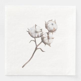Paper Dinner Napkins with Cotton Design Disposable Serviettes