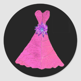 Paper Doll Bridesmaid Dresses Classic Round Sticker