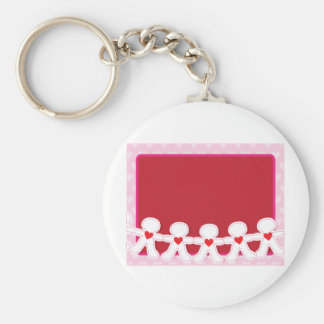 Paper Doll Hearts Key Chains