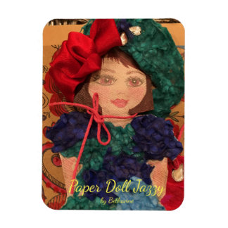 Paper Doll Jazzy Magnet