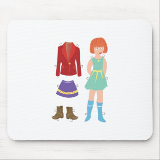 Paper Doll Mouse Pad