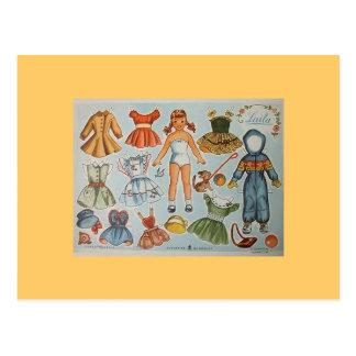 Paper Doll Postcards
