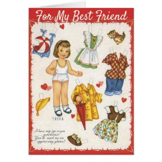 Paper Dolls Valentine's Day Personalised Vintage Card