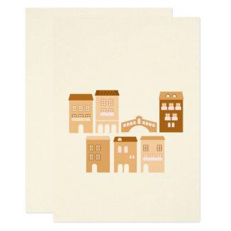Paper elegant greeting : italy illustration card