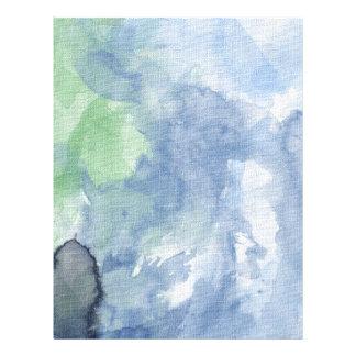 Paper, Flowered Path Watercolor, Blue Sky 21.5 Cm X 28 Cm Flyer