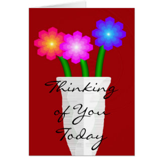 Paper Flowers, Thinking of You Today Card