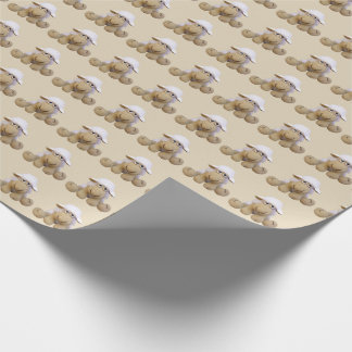 Paper for gift baby beig pie with ewes