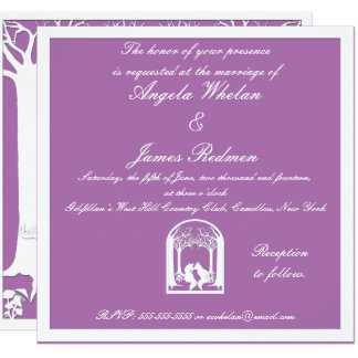 Paper Foxes in Radiant Orchid Card