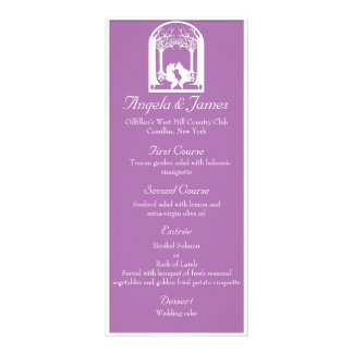 Paper Foxes in Radiant Orchid Rack Card