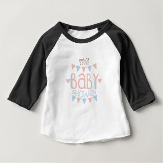 Paper Garlands Baby Shower Invitation Design Templ Baby T-Shirt