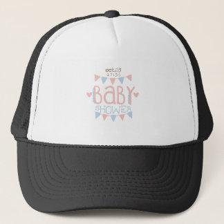 Paper Garlands Baby Shower Invitation Design Templ Trucker Hat