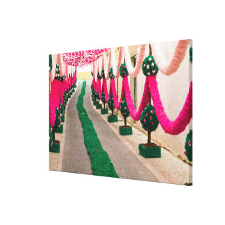 Paper Garlands For Festival Of Trays Canvas Print