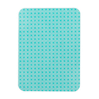 paper_geometricbluegreen GEOMETRIC LIGHT BLUE GREE Magnet