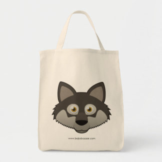 Paper Gray Wolf Tote Bag