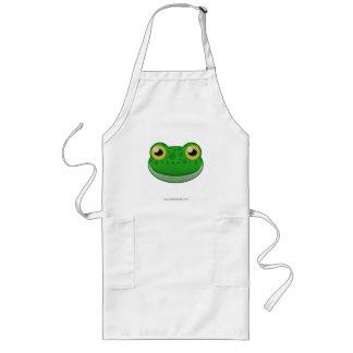 Paper Green Frog Apron
