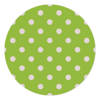 Paper greeting green with dots card