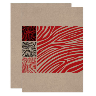 Paper greeting with AFRICA STRIPES Card