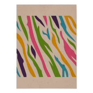 Paper greeting with Africa zebra Card