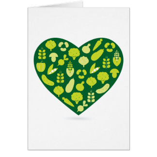 Paper greeting with bio heart card