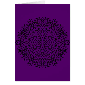 Paper greeting with Creative Mandala Card