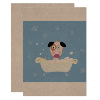 Paper greeting with DOG Card