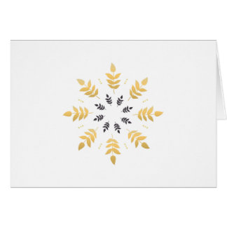 Paper greeting with gold leaves card
