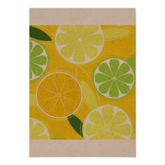 Paper greeting with Lemons Card