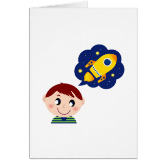 Paper greeting with Little boy Card