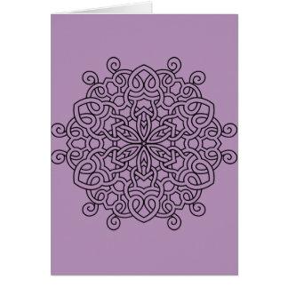 Paper greeting with Mandala Card
