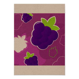 Paper greeting with strawberries card