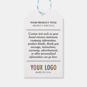 Paper Hang Tags with String & Custom Company Logo