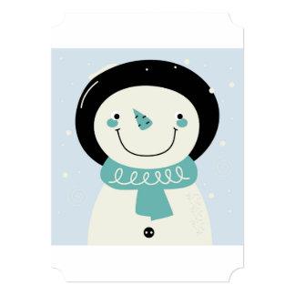 Paper Invitation with snowman