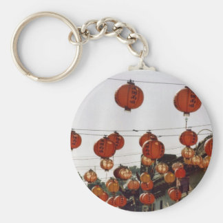 Paper Lanterns Basic Round Button Key Ring